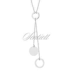 Srebrny naszyjnik pr.925 - kółeczka - rodowanie
