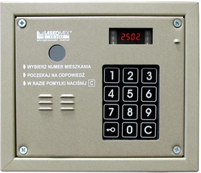 Laskomex cp-2503r beżowy panel audio z czytnikiem kluczy rfid - szybka dostawa lub możliwość odbioru w 39 miastach