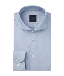Męska koszula jaquard niebieska 37