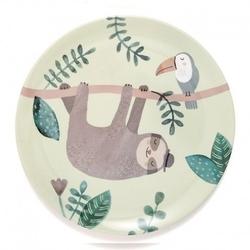 Petit monkey - talerz płaski z melaminy leniwiec