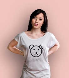 Pocałujcie misia t-shirt damski biały l