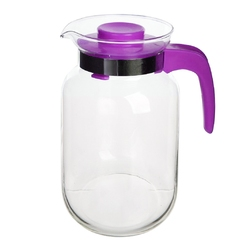 Dzbanek do herbaty, kawy, wody i soku szklany altom design 2 l fioletowy