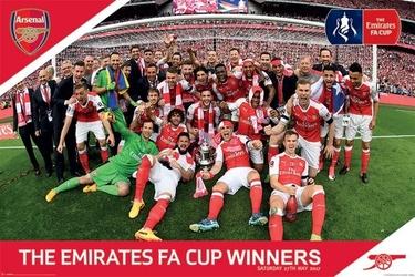Arsenal fc fa cup winners - plakat piłkarski