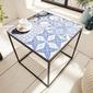Interior space :: stół marrakesz biały 40cm niebieski