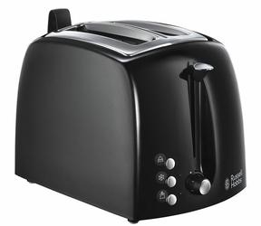 Toster RUSSELL HOBBS 22601-56  2 tosty  rozmrażanie  ruszt do podgrzewania bułek - Klasa 2  czarny