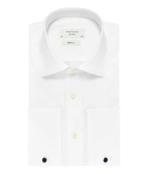 Biała klasyczna koszula męska NORMAL FIT, mankiety na spinki 41