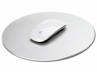 Alogy aluminiowa podkładka pod mysz do apple magic mouse okrągła srebrna - Srebrny