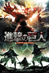 Attack on titan season 2 - plakat anime