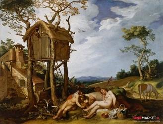 przypowieść o pszenicy i kąkolu - abraham bloemaert ; obraz - reprodukcja