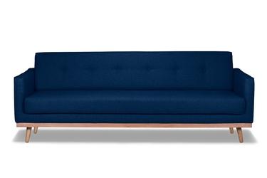Sofa klematisar 3-osobowa tkanina łatwoczyszcząca poliester 100 navy