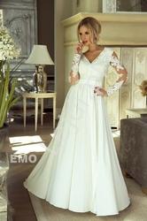 Biała sukienka luna na ślub cywilny, wieczorowa