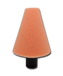 Lare szyszka polerska stożek 80mm gwint m14 pomarańczowa medium finish