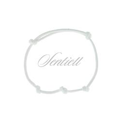 Bransoletka baza do zawieszki kolor biały