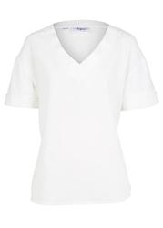 Bluzka z wiskozy bonprix biel wełny