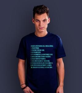 Zasady umawiania się z moją córką t-shirt męski granatowy xxl