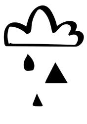 Chmura - plakat Wymiar do wyboru: 29,7x42 cm