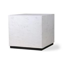 Hkliving :: stolik marmurowy block biały, rozm l