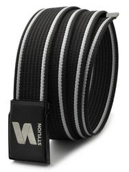 Pasek parciany  stylion czarno-biały - st-01