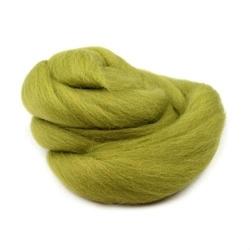 Wełna czesankowa 20g - zielony jasny - ZIELJAS