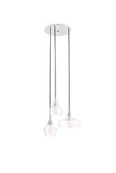 Kaspa :: lampa wisząca longis round 3 klosze transparentna