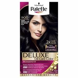 Palette, Deluxe, farba do włosów, 900 Głęboka Naturalna Czerń