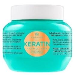 Kallos keratin hair mask kosmetyki damskie - odżywka do włosów 275ml