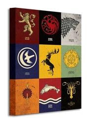 Game of thrones sigils - obraz na płótnie