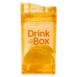 Bidon ze słomką 235 ml, Pomarańczowy, In The Box