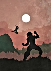 Attack on Titan Vintage Poster - plakat Wymiar do wyboru: 21x29,7 cm