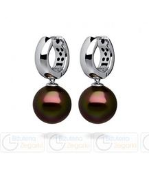 FC Kolczyki z perłą wiszące 3061021011 PM 10 kolor ciemny brąz