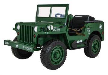 Olbrzymi wojskowy jeep willys 4x4 zielony 3 osoby 60 kg