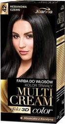 Joanna Multi Cream Color, farba do włosów, 42 hebanowa czerń