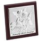 Obrazek srebrny aniołki 14x14 cm pamiątka chrztu grawer