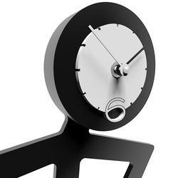 Zegar ścienny mino calleadesign szara śliwka 10-012-34