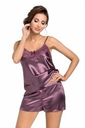 Donna eva 12 śliwkowa piżama damska