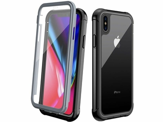 Etui Alogy pancerne rugged Full-body do Apple iPhone XS Max Czarne
