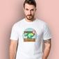Walizka wolności t-shirt męski biały s