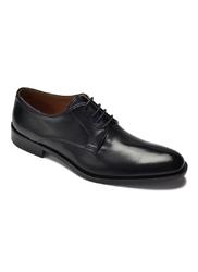 Eleganckie czarne buty biznesowe ze skóry nappa 42