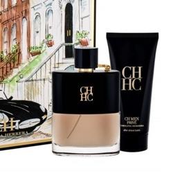 Zestaw carolina herrera ch men prive perfumy męskie - woda toaletowa 100ml + balsam po goleniu 100ml