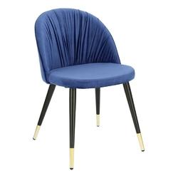 Krzesło kotte velvet niebieskie - niebieski
