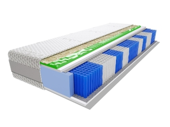 Materac kieszeniowy divali multipocket visco molet 160x200 cm średnio twardy profilowane visco memory
