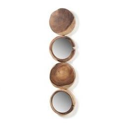 Lustro w drewnianej ramie enkel 34x5 cm