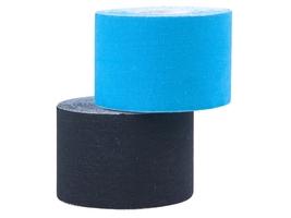 Taśma kinesiology tape czarna 5cm x 5m - insportline - czarny