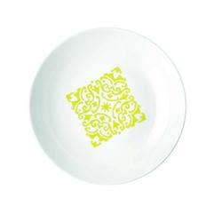 Guzzini - tiffany - talerz głęboki le maioliche, żółty - żółty