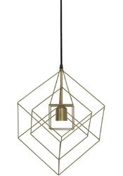 Druciana lampa wisząca w stylu loft kubinka antyczny brąz
