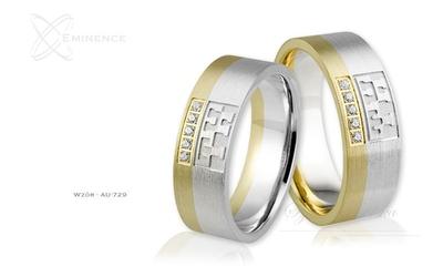 Obrączki ślubne - wzór au-729