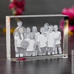 Zdjęcie grawerowane wewnątrz szkła • fotokryształ średni prosty