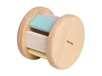 ROLLER drewniana pastelowa grzechotka