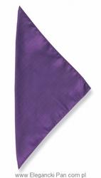 Poszetka jedwabna 33x33cm , fioletowa