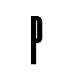 Litera czarna akrylowa 8 cm Design Letters P